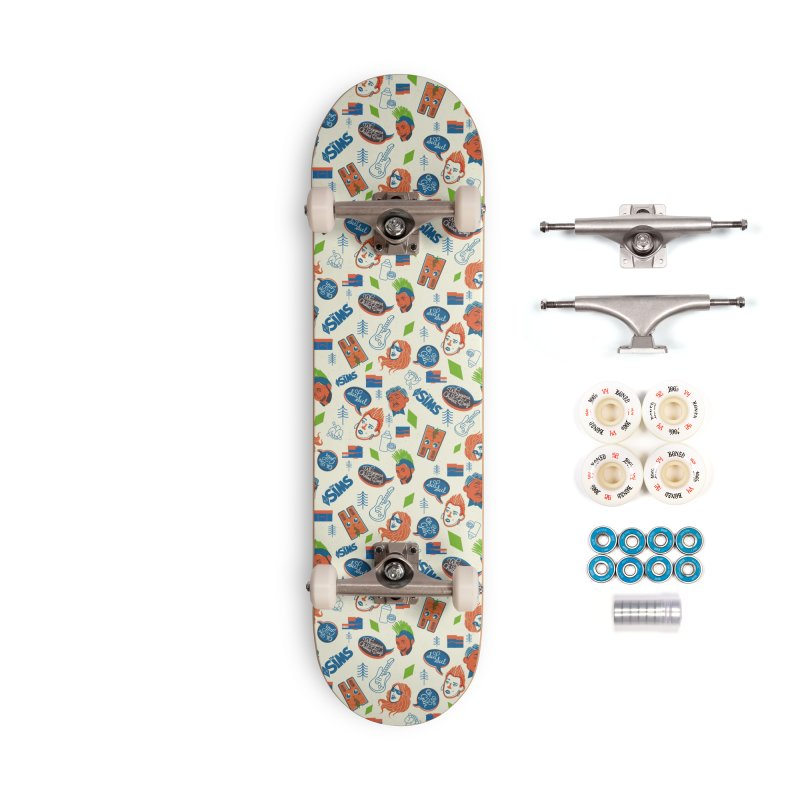Simlish Level 1 Accessories Complete - Premium Skateboard by The Sims Official Threadless Store