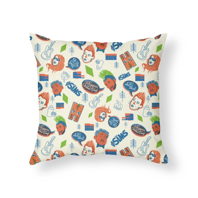 Simlish Level 1 Home Throw Pillow by The Sims Official Threadless Store
