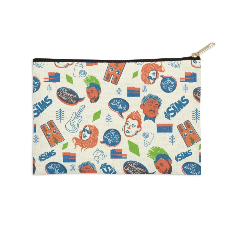 Simlish Level 1 Accessories Zip Pouch by The Sims Official Threadless Store