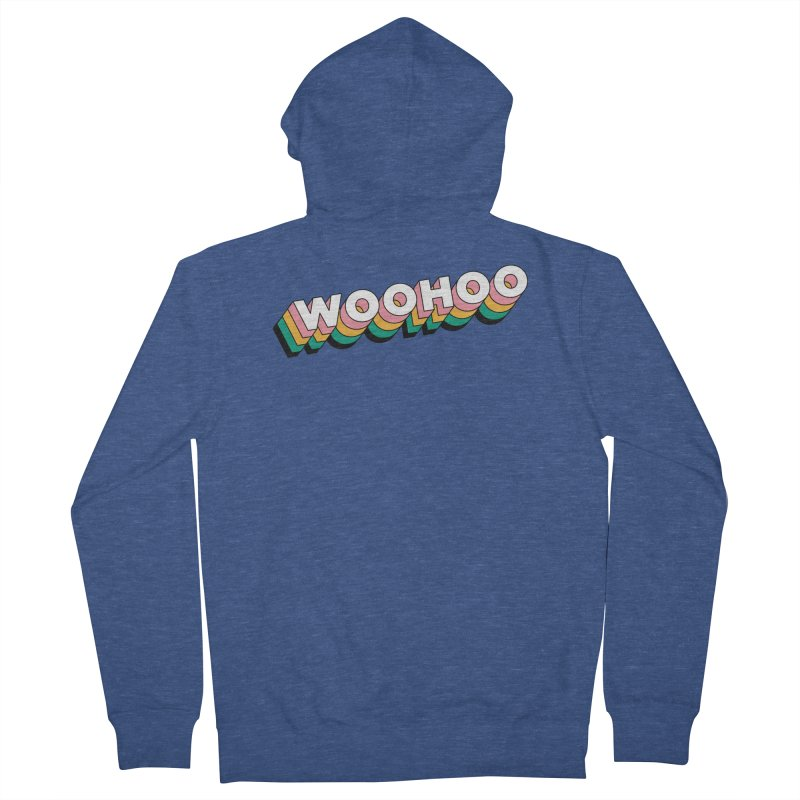 WooHoo - White Men's French Terry Zip-Up Hoody by The Sims Official Threadless Store