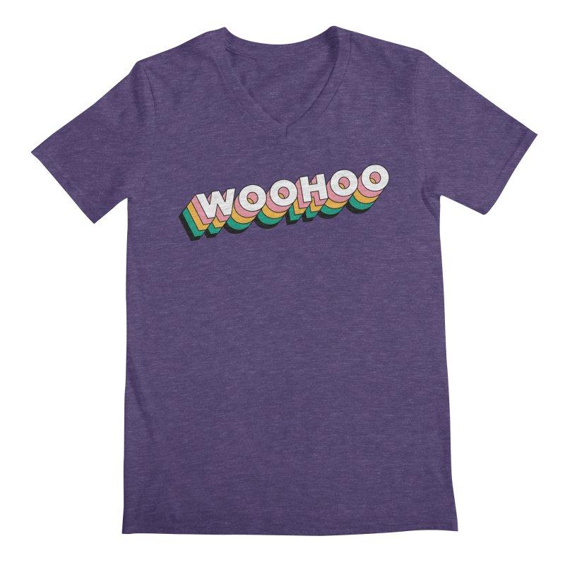 WooHoo - White Men's Regular V-Neck by The Sims Official Threadless Store