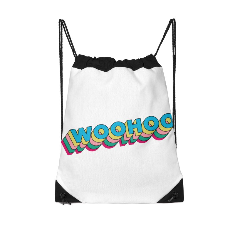 WooHoo - Blue Accessories Drawstring Bag Bag by The Sims Official Threadless Store