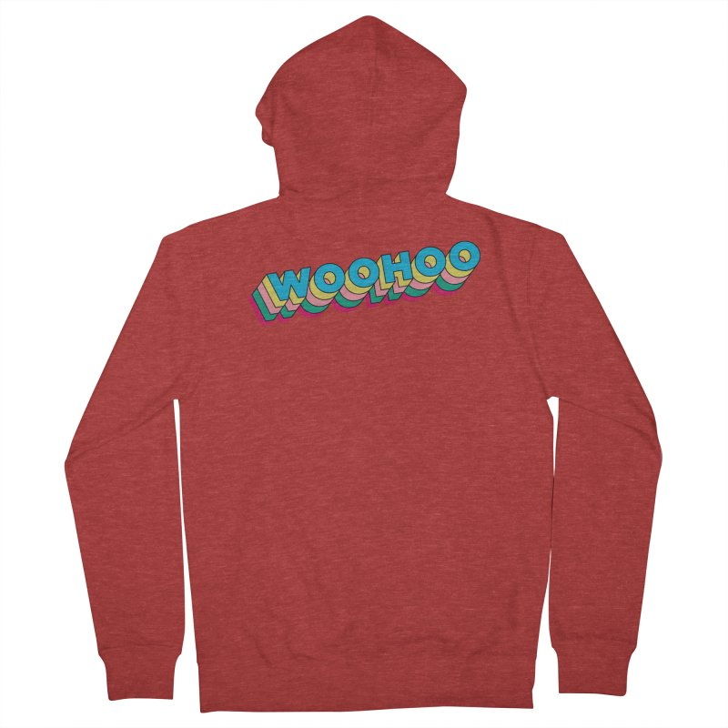 WooHoo - Blue Women's French Terry Zip-Up Hoody by The Sims Official Threadless Store
