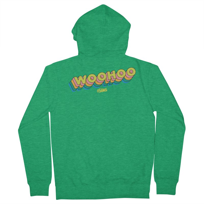 WooHoo - Yellow Men's Zip-Up Hoody by The Sims Official Threadless Store