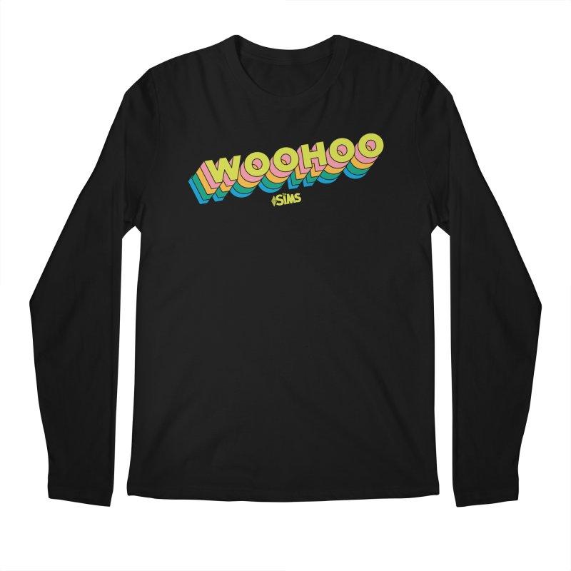 WooHoo - Yellow Men's Regular Longsleeve T-Shirt by The Sims Official Threadless Store