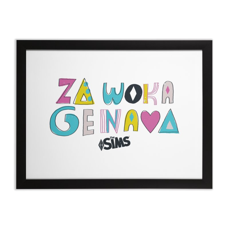 A Simlish Compliment Home Framed Fine Art Print by The Sims Official Threadless Store