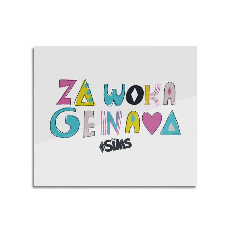 A Simlish Compliment Home Mounted Aluminum Print by The Sims Official Threadless Store