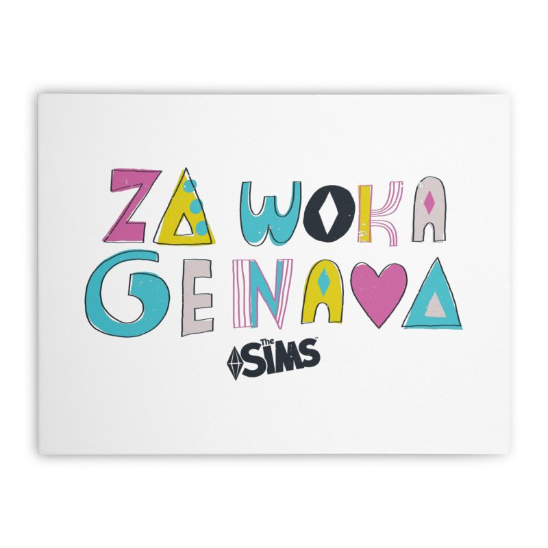 A Simlish Compliment Home Stretched Canvas by The Sims Official Threadless Store