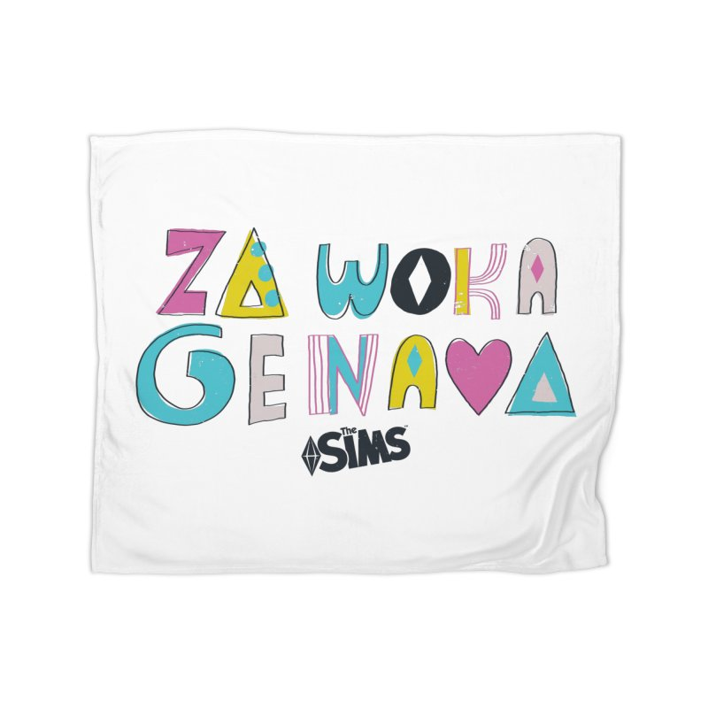 A Simlish Compliment Home Fleece Blanket Blanket by The Sims Official Threadless Store