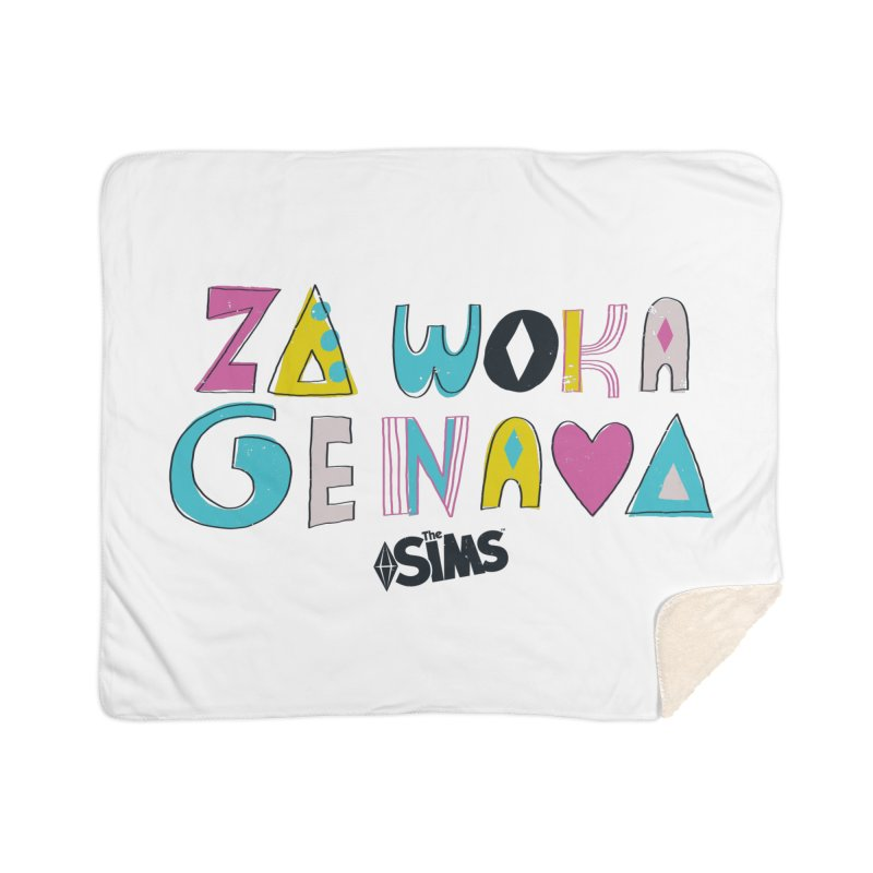 A Simlish Compliment Home Blanket by The Sims Official Threadless Store