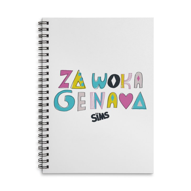 A Simlish Compliment Accessories Lined Spiral Notebook by The Sims Official Threadless Store