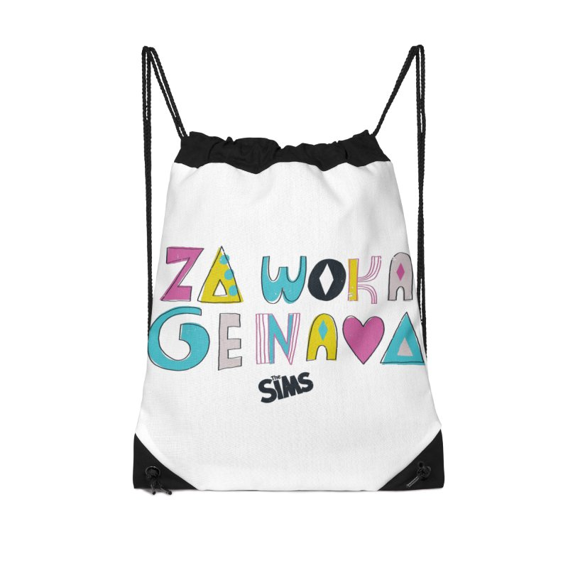 A Simlish Compliment Accessories Drawstring Bag Bag by The Sims Official Threadless Store