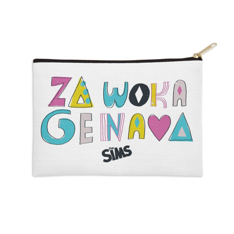 A Simlish Compliment Accessories Zip Pouch by The Sims Official Threadless Store