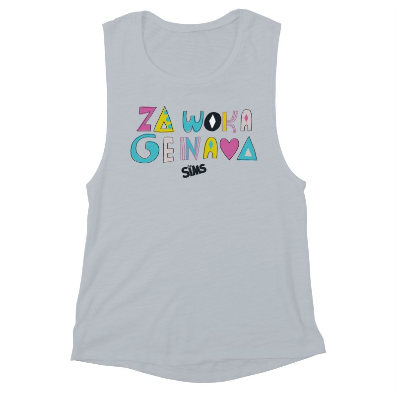 A Simlish Compliment Women's Muscle Tank by The Sims Official Threadless Store