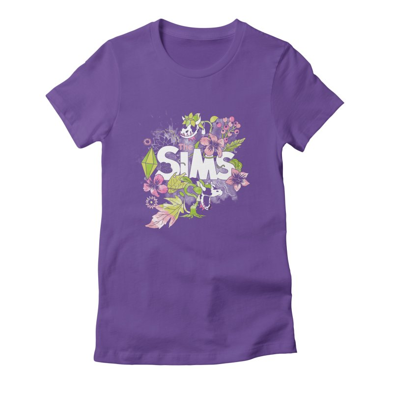 The Sims Garden in Women's Fitted T-Shirt Purple by The Sims Official Threadless Store