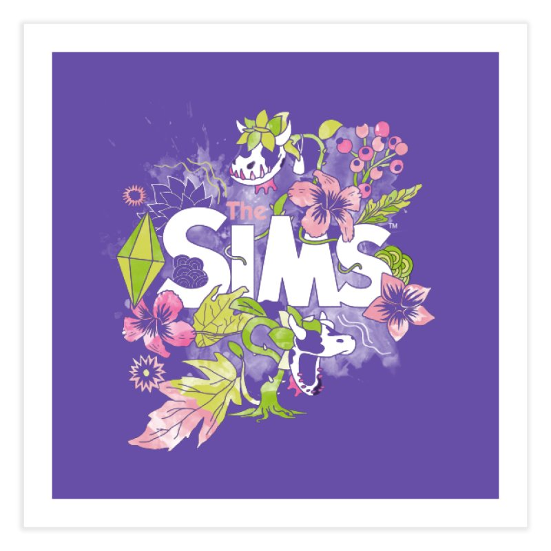 The Sims Garden Home Fine Art Print by The Sims Official Threadless Store
