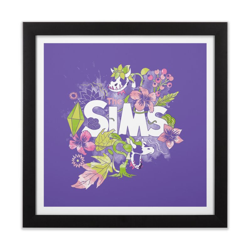 The Sims Garden Home Framed Fine Art Print by The Sims Official Threadless Store