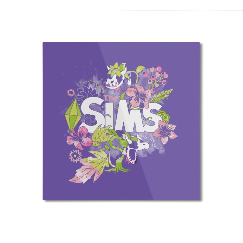 The Sims Garden Home Mounted Aluminum Print by The Sims Official Threadless Store