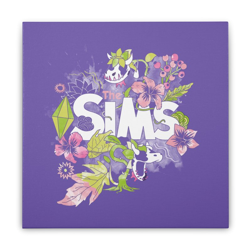 The Sims Garden Home Stretched Canvas by The Sims Official Threadless Store