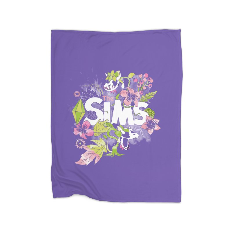 The Sims Garden Home Fleece Blanket Blanket by The Sims Official Threadless Store