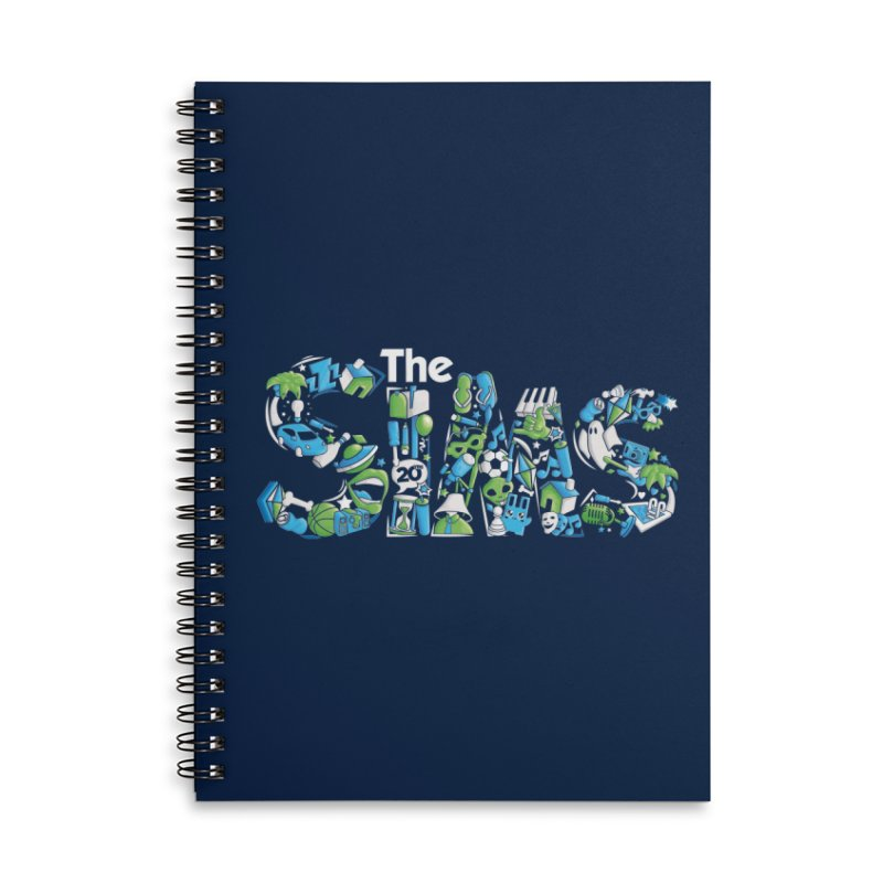 The Sims Accessories Lined Spiral Notebook by The Sims Official Threadless Store