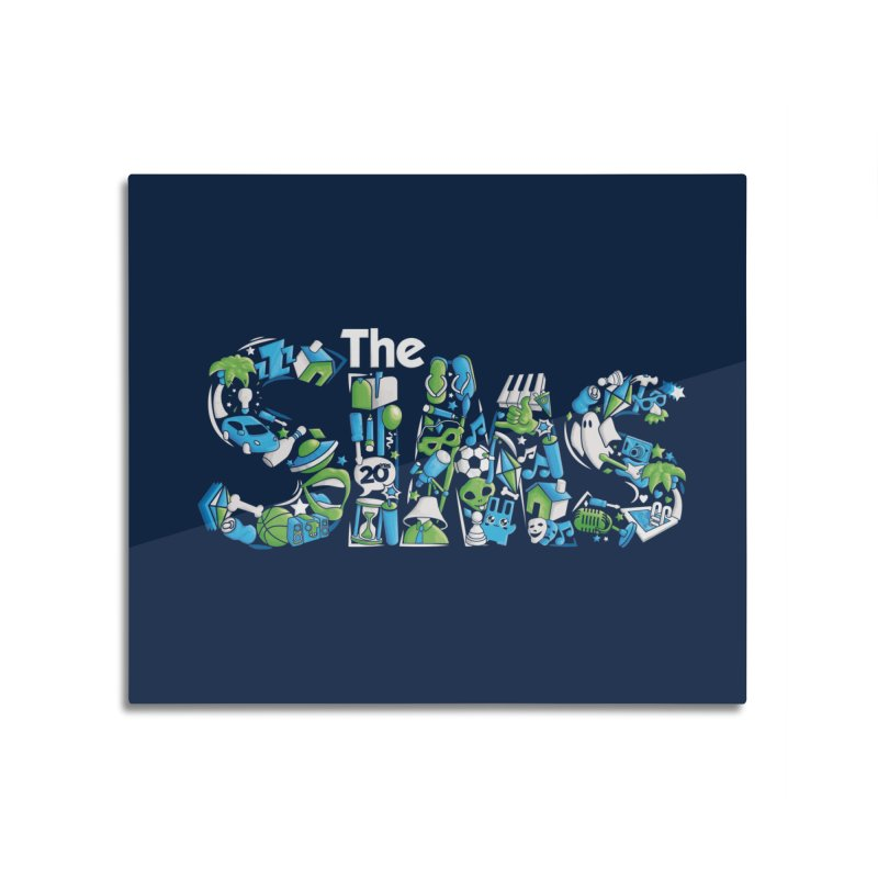 The Sims Home Mounted Aluminum Print by The Sims Official Threadless Store