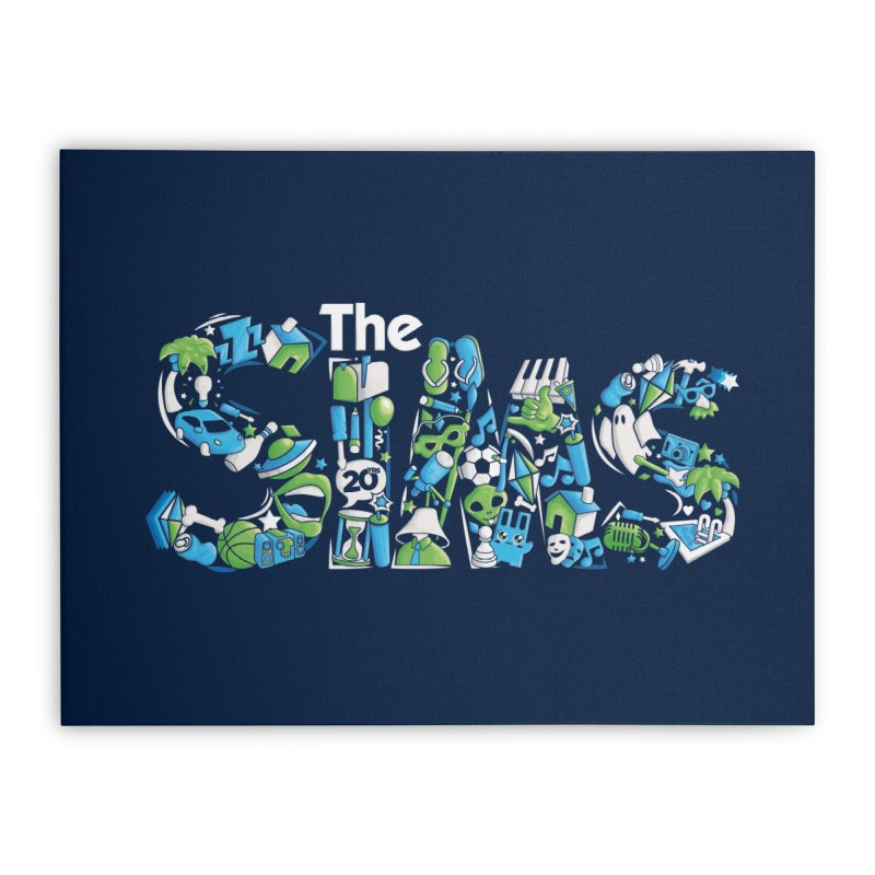The Sims Home Stretched Canvas by The Sims Official Threadless Store
