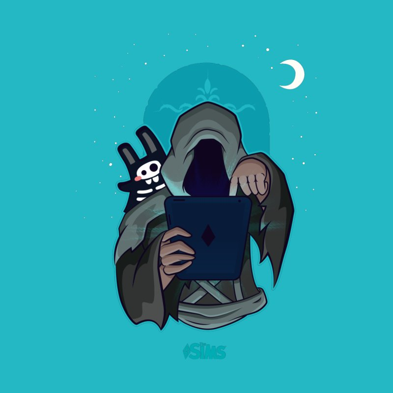 Grim Reaper - Teal by The Sims Official Threadless Store