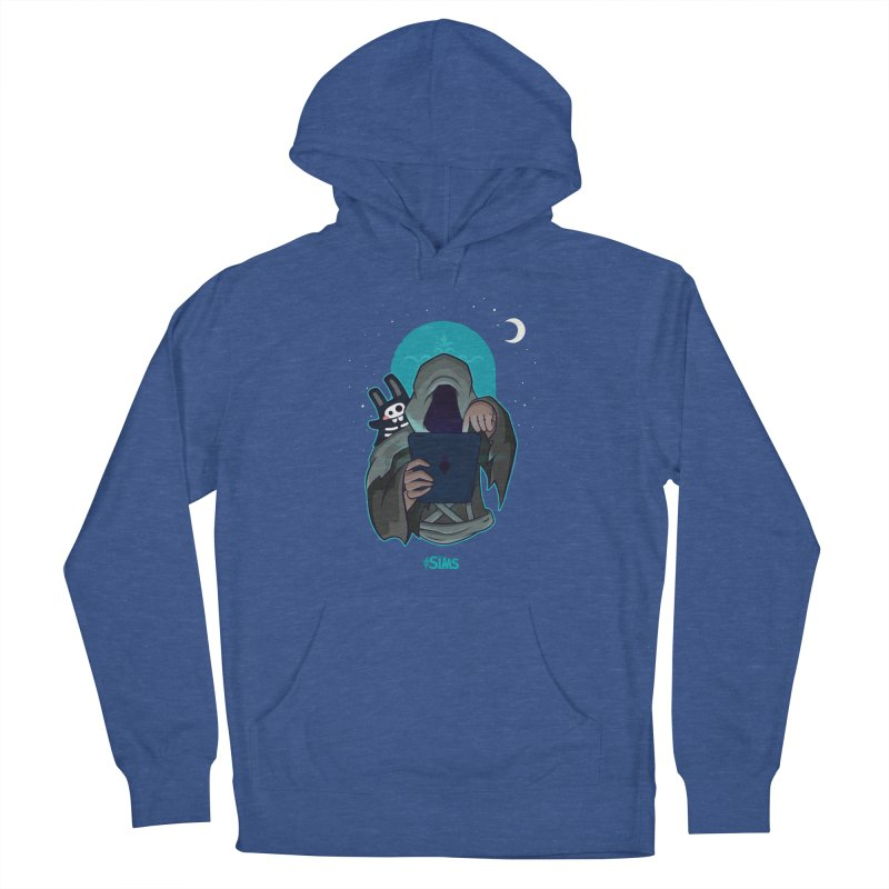 Grim Reaper - Teal Men's French Terry Pullover Hoody by The Sims Official Threadless Store