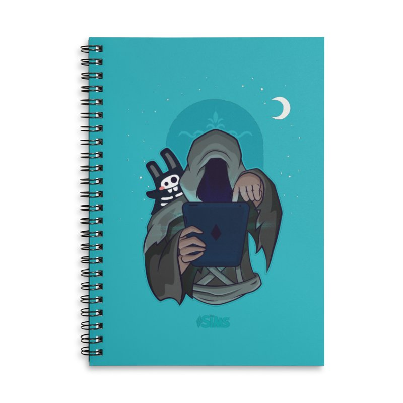 Grim Reaper - Teal Accessories Lined Spiral Notebook by The Sims Official Threadless Store