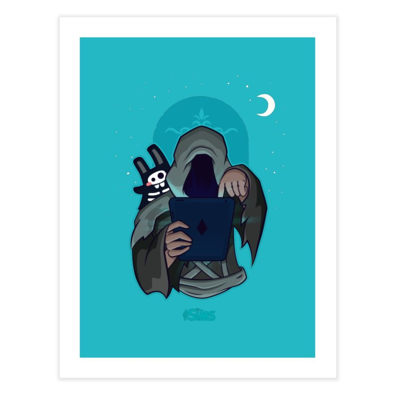 Grim Reaper - Teal Home Fine Art Print by The Sims Official Threadless Store