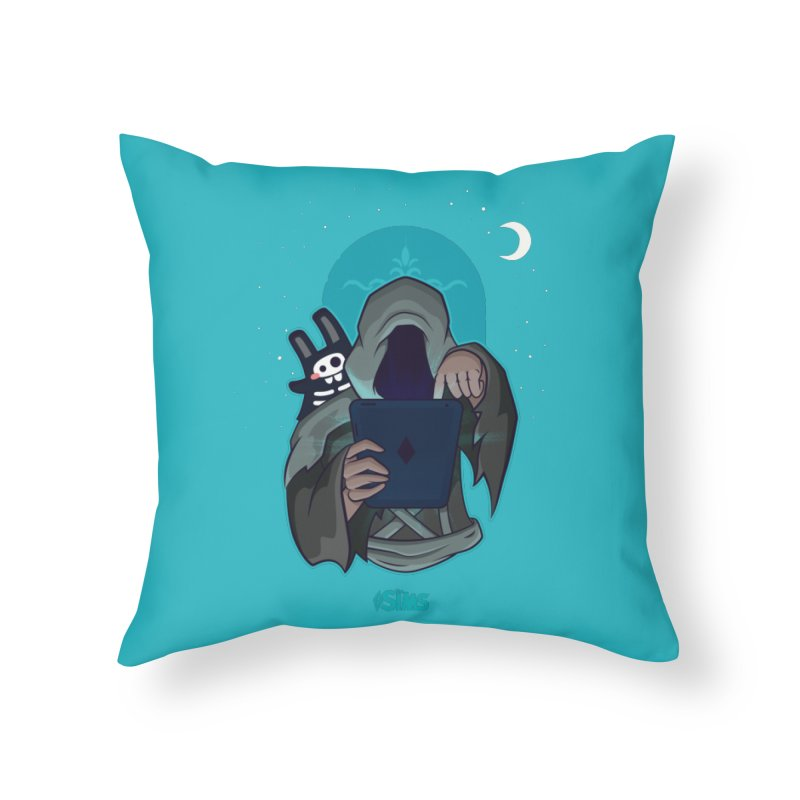 Grim Reaper - Teal Home Throw Pillow by The Sims Official Threadless Store
