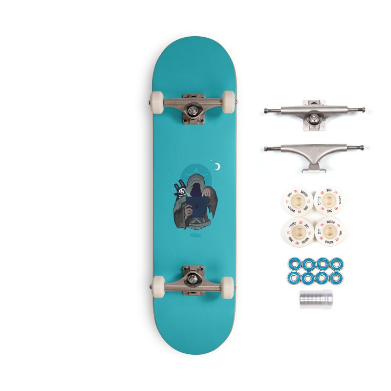 Grim Reaper - Teal Accessories Complete - Premium Skateboard by The Sims Official Threadless Store