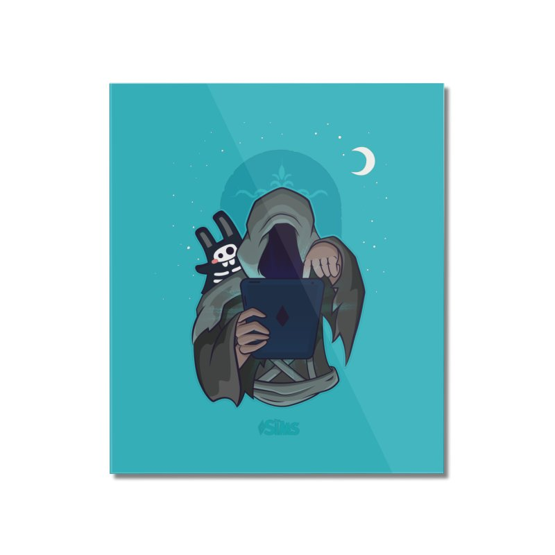 Grim Reaper - Teal Home Mounted Acrylic Print by The Sims Official Threadless Store