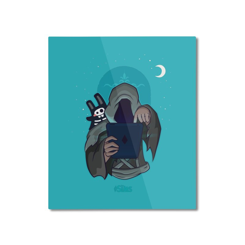 Grim Reaper - Teal Home Mounted Aluminum Print by The Sims Official Threadless Store