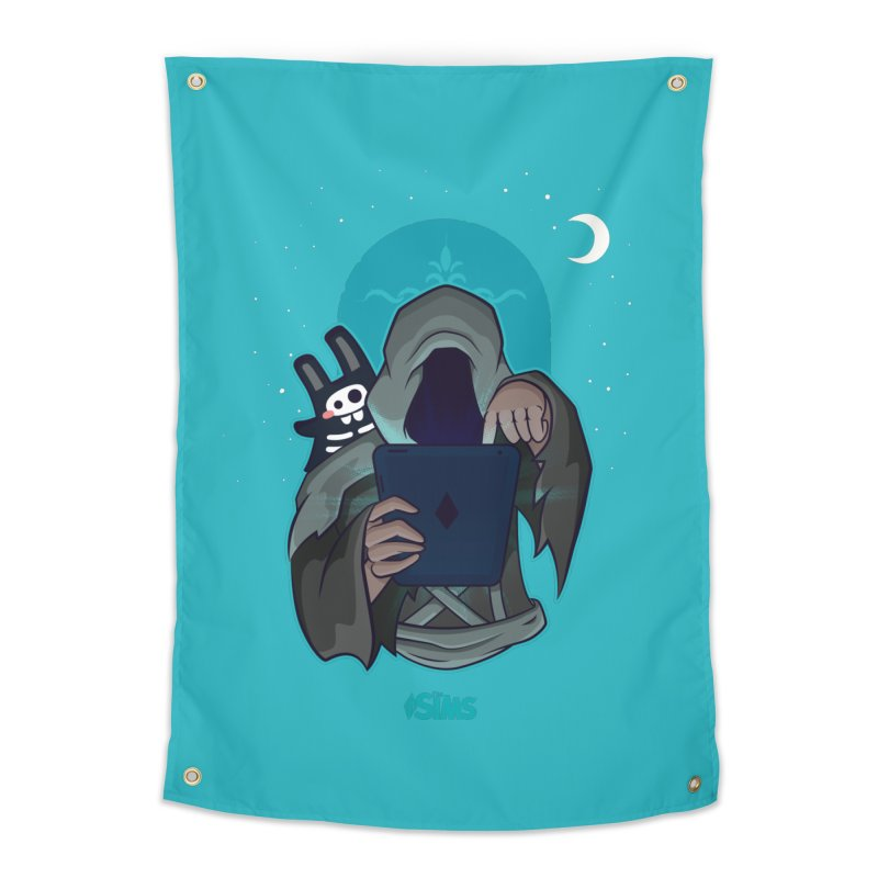 Grim Reaper - Teal Home Tapestry by The Sims Official Threadless Store