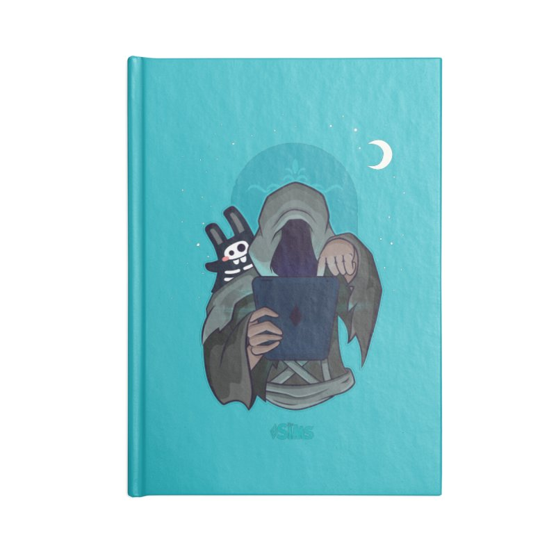 Grim Reaper - Teal Accessories Blank Journal Notebook by The Sims Official Threadless Store