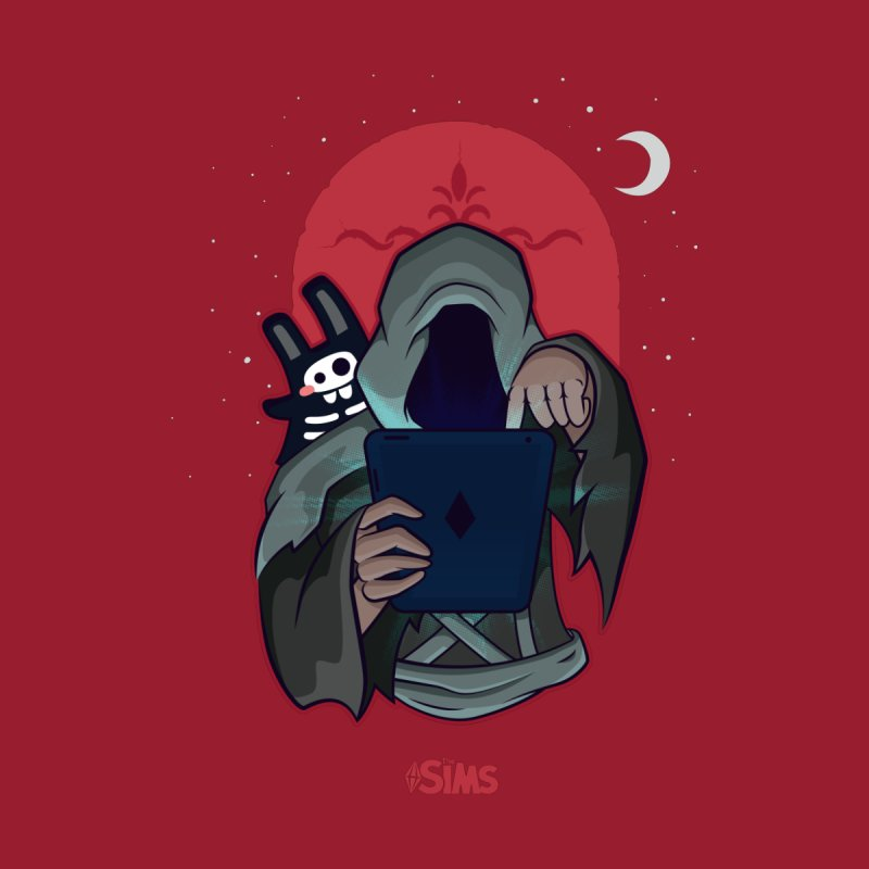 Grim Reaper - Red by The Sims Official Threadless Store