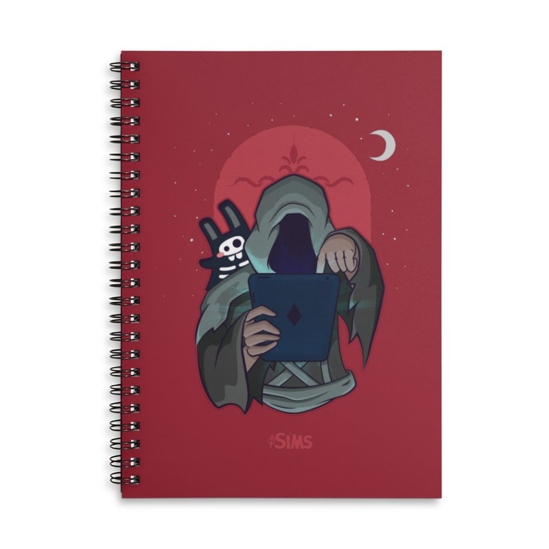 Grim Reaper - Red Accessories Lined Spiral Notebook by The Sims Official Threadless Store