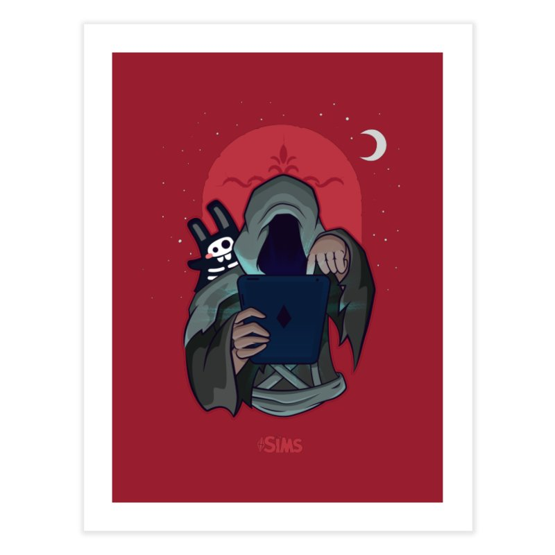Grim Reaper - Red Home Fine Art Print by The Sims Official Threadless Store