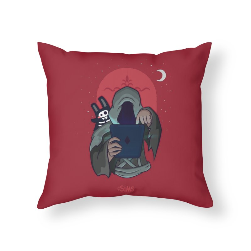Grim Reaper - Red Home Throw Pillow by The Sims Official Threadless Store