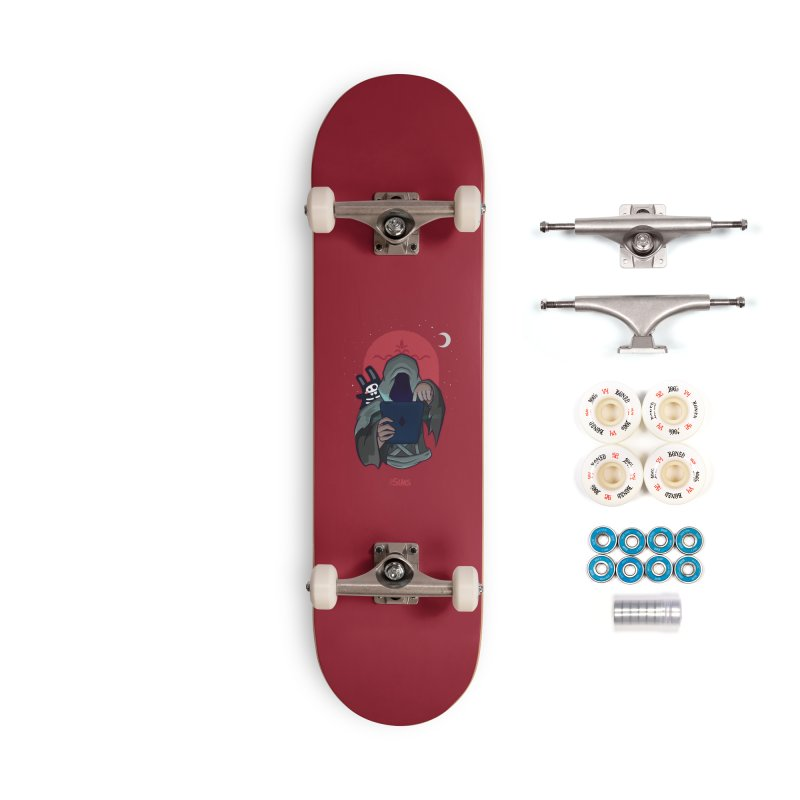 Grim Reaper - Red Accessories Complete - Premium Skateboard by The Sims Official Threadless Store