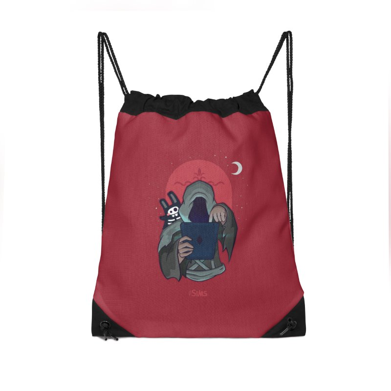 Grim Reaper - Red Accessories Drawstring Bag Bag by The Sims Official Threadless Store