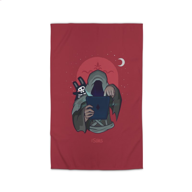 Grim Reaper - Red Home Rug by The Sims Official Threadless Store
