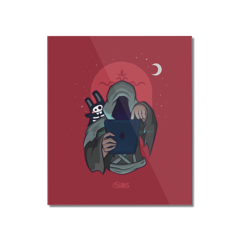 Grim Reaper - Red Home Mounted Acrylic Print by The Sims Official Threadless Store