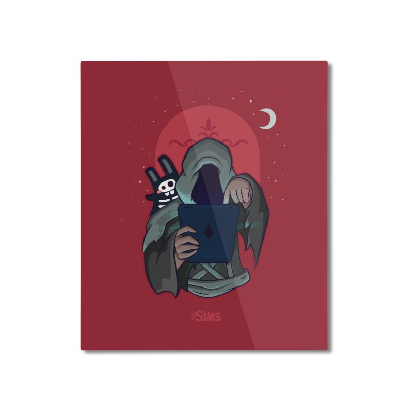 Grim Reaper - Red Home Mounted Aluminum Print by The Sims Official Threadless Store