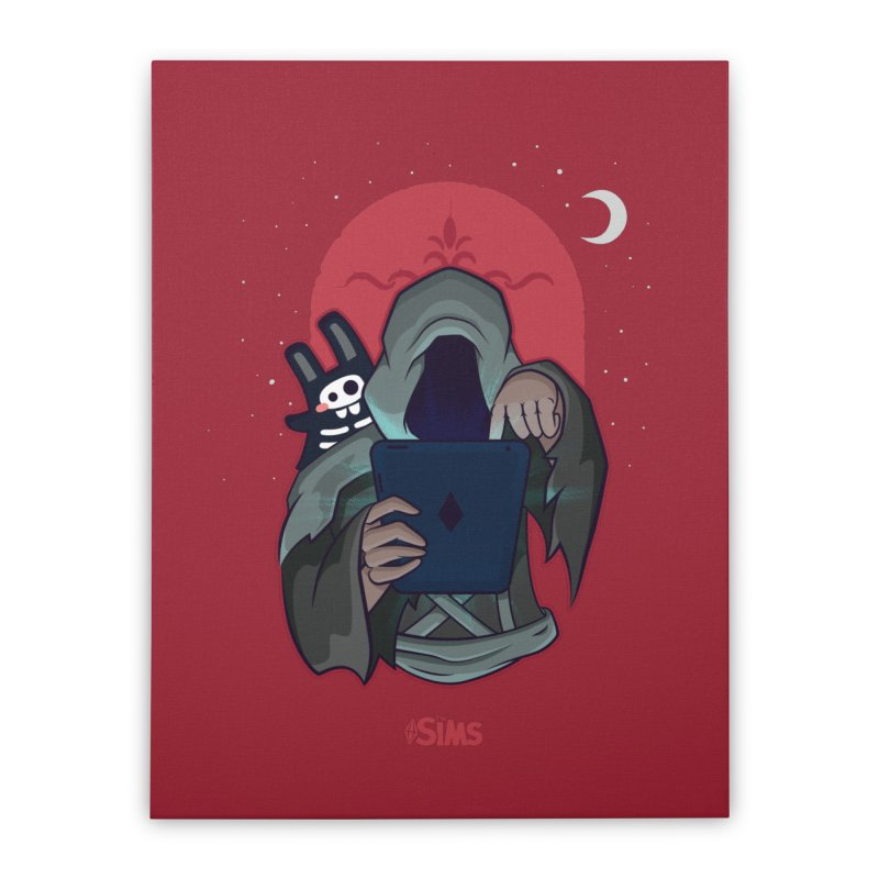 Grim Reaper - Red Home Stretched Canvas by The Sims Official Threadless Store