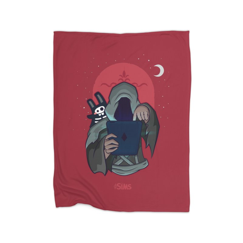Grim Reaper - Red Home Fleece Blanket Blanket by The Sims Official Threadless Store