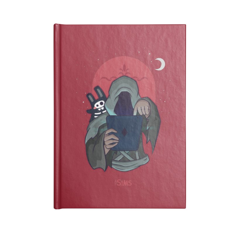 Grim Reaper - Red Accessories Lined Journal Notebook by The Sims Official Threadless Store