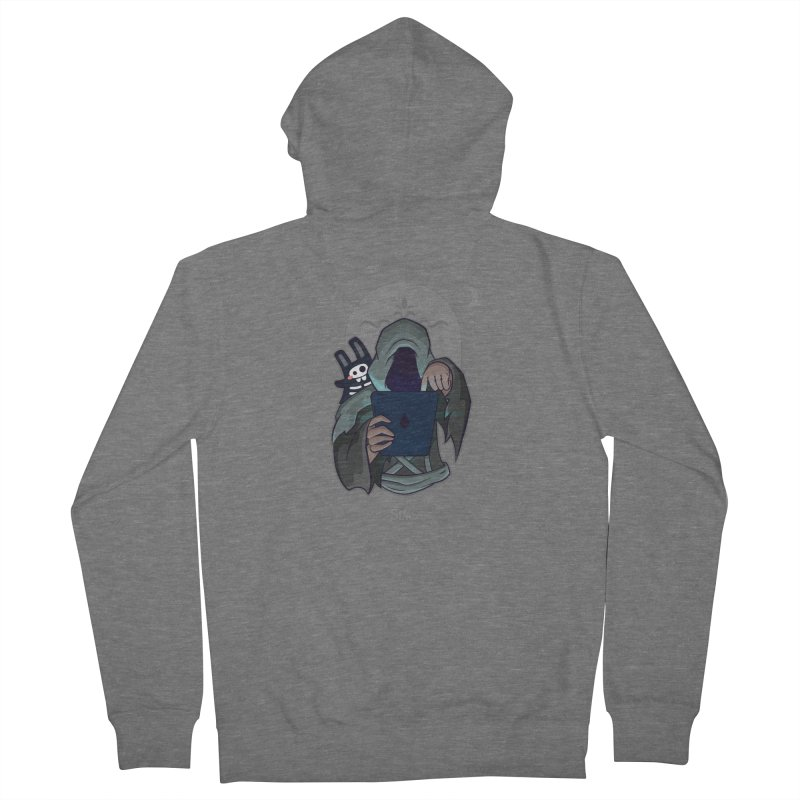 Grim Reaper - Grey Men's French Terry Zip-Up Hoody by The Sims Official Threadless Store